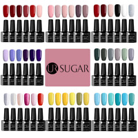 6 Bottles UR SUGAR 7.5ml Soak Off UV Gel Polish Nail Art Glitter Nude Varnish