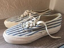 Vintage 1970-80's Vans Hickory Stripe Canvas Sneakers Made In Usa Women's 5