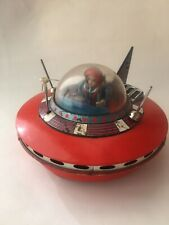 NASA FLYING SAUCER SPACE SHIP WITH PILOT BATTERY OPERATED TOY JAPAN 60S