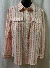 Guy Harvey Ladies Fishing Shirt Size M NWT Rainbow Runner 100% Cotton 30+UV Long