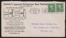 1899 advertising cover Bernard Gloekler's Refrigerator Door Fastener Pittsburgh