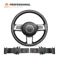 MEWANT Top Black Genuine Leather Steering Wheel Cover for Mazda MX-5 RX-8 CX-7