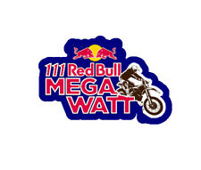 Red Bull MegaWatt Car Motorbike Vinyl Decal Sticker x2 (pair) 83x55mm