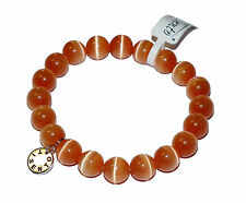 "Ti Sento ""Catseye Orange"" Beaded Expander Stretch Bracelet"