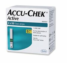 ACCU CHEK ACTIVE 2 x 50 TEST STRIPS NEW STOCK  Free Shipping