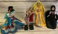 Assorted International Cultural 4 Dolls 6.5�-8� Circa Late 1970's Early 1980's