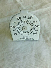 Vintage White Porcelain Oven Thermometer with box Cooper Co Pequabuck Conn.