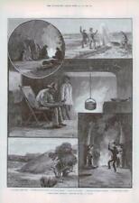1890 Antique Print - AUSTRALIA CAMP BORE HOLE OUT STATION BINGEROO (172)