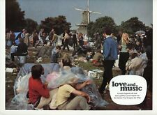 LOVE AND MUSIC 1971 VINTAGE LOBBY CARD ORIGINAL #3  ROTTERDAM FESTIVAL HIPPIES