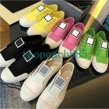 Women Ladies Canvas Shoes Scarpe Donna Flats Shoes Slip-On Casual Sneakers White