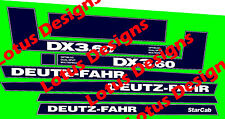 DEUTZ FAHR DX3.60 Autocollants/Decals