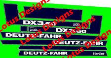 deutz fahr DX3.60 stickers / decals