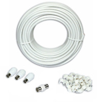 5m TV Aerial Extension Kit Coaxical Cable Lead Splitter Freeview Digital