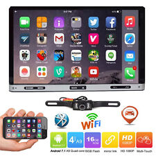 "7"" Smart Android 7.1 4G WiFi Double 2DIN Car Radio Stereo DVD Player GPS+Camera"