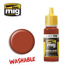 Ammo of Mig A.MIG-0109 Washable Rust - Peinture Acrylique 17ml