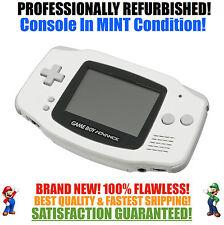 *NEW GLASS SCREEN* Nintendo Game Boy Advance GBA White System MINT NEW