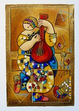 "DORIT LEVI ""BANJO SONG"" Hand Signed Limited Edition Art Serigraph"