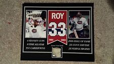 PATRICK ROY MONTREAL CANADIENS GAME USED STICK 8 X 10 COA