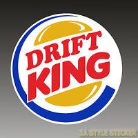 DRIFT KING Sticker DRIFT AUFKLEBER DRFIT Decal Winteraufkleber winter auto d72
