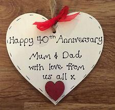 40th Wedding Anniversary gift / Ruby Wedding Anniversary gift personalised gift