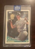 2020 Topps Archive Signature Series Jay Buhner Variation Seattle Mariners #03/44