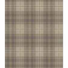 York Urban Regent Glen Plaid Tan and Medium Grey Wallpaper-Double roll