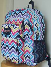 JanSport Big Student MULTI SAUCY CHEVRON Large Backpack Bookbag Bag