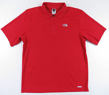 THE NORTH FACE VAPORWICK 1/4 ZIP RED S/S ATHLETIC POLO SHIRT OUTDOORS EUC MENS M