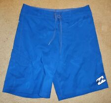 BILLABONG Size 34 Mens Boardies Mens Board Shorts Blue - fine all over logo