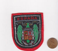 Vtg ESPANA Patch-Travel Souvenir Vacation-Red Felt-Europe-Shield-Crest-Spain
