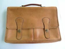 VINTAGE-COACH ALL LEATHER BRIEFCASE-NO 341-9123-MADE IN NEW YORK CITY