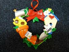 Rudolph & Me Gardening Garden Wreath Christmas Ornament NEW with tag (h1040)