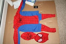 Halloween Costumes Spider Man Full Body With Cloth Mask Med 6-8 Boys