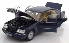Mercedes-Benz S500 S CLASS W140 Metallic Blue 1994 1:18 Norev Dealer