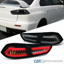 Fit 08-17 Mitsubishi Lancer/ EVO X Glossy Black LED Rear Tail Lights Brake Lamps