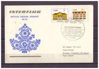DDR (R.d.a.) , à 24 Premier Vol Dresden - Budapest Sst Dresden 03.05.1967