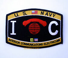 US NAVY INTERIOR COMMUNICATIONS ELECTRICIAN IC RATING PATCH USS PIN UP ENLISTED