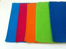 Teal Blue Plain Dyed 100 Cotton Rib Placemat - 33 X 48cm
