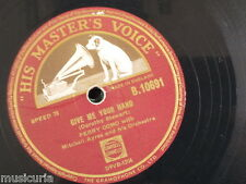 78rpm PERRY COMO give me your hand / wanted B 10691