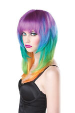 Kaleidescope Rainbow Girls Gone Wild Adult Costume Wig