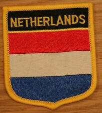 NETHERLANDS Holland Shield Country Flag Embroidered PATCH Badge P1