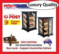 Hand Made 150+ Count Cigar Humidor Box Cabinet Mahogany Humidifier Hygrometer 1