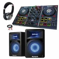 Numark Party Mix DJ Controller w Lightshow + N-Wave 580L Speakers & Headphones