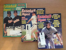 3 BASEBALL DIGEST MAGAZINES..February, March & June 1994 Good Condition!