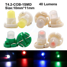 10Pcs 12V T4.2 COB 1SMD LED Auto Car Bulbs Dashboard Gauge Dash Side Light Lamp