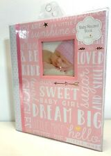 Brand New Lit Peach Baby Toddler Girl Pink Memory Photo Album Book Scrapbook