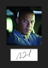 VIN DIESEL #2 A5 Signed Mounted Photo Print - FREE DELIVERY