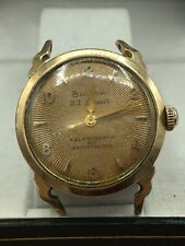Bulova Mens Antique Automatic Watch Gold Plated