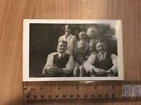Vintage Postcard Real Photograph Social History. Family Portrait.