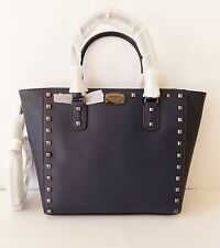 NWT Michael Kors Saffiano Studded Large tote ~ Navy